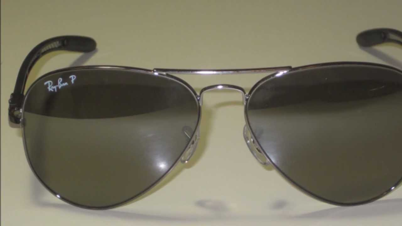 9ec4802dd30 RAY BAN RB 8307 004 N8 AVIATOR POLARIZED SUNGLASSES - YouTube
