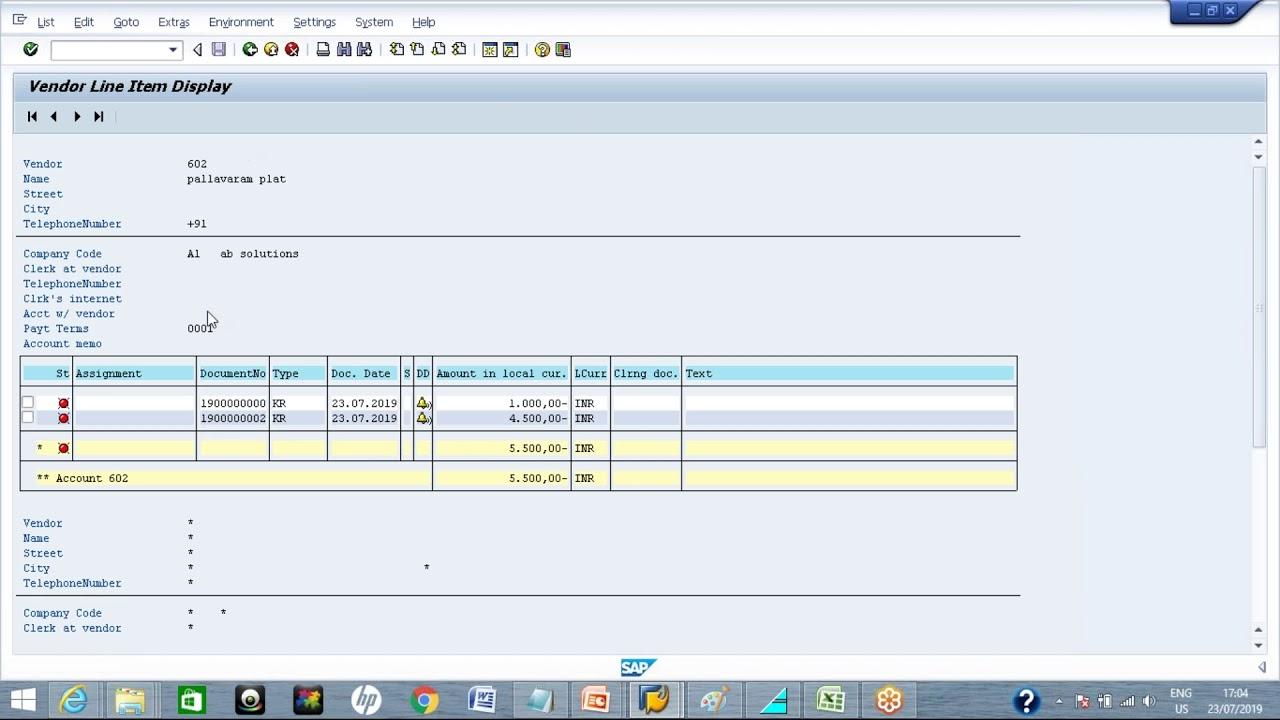 SAP Vendor Invoice & Payment, Reset & Reverse Document (FB60,F-53,FBRA,FB08)