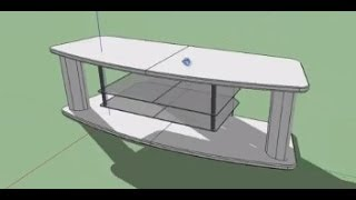 Making Tv Table In Google Sketchup