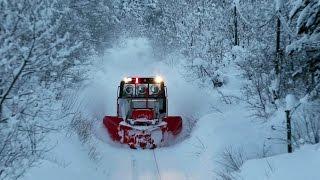 札沼線の除雪作業! ラッセル モーターカー / JR北海道