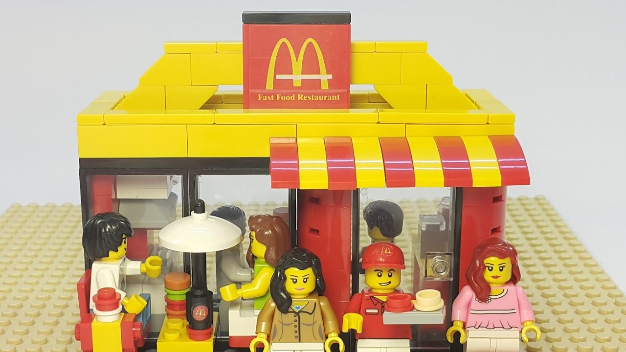 Lego Build Of Fast Food Restaurant