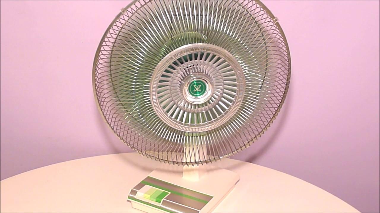 1970 S Sears 16 Inch Oscillating Fan Green Blade Youtube