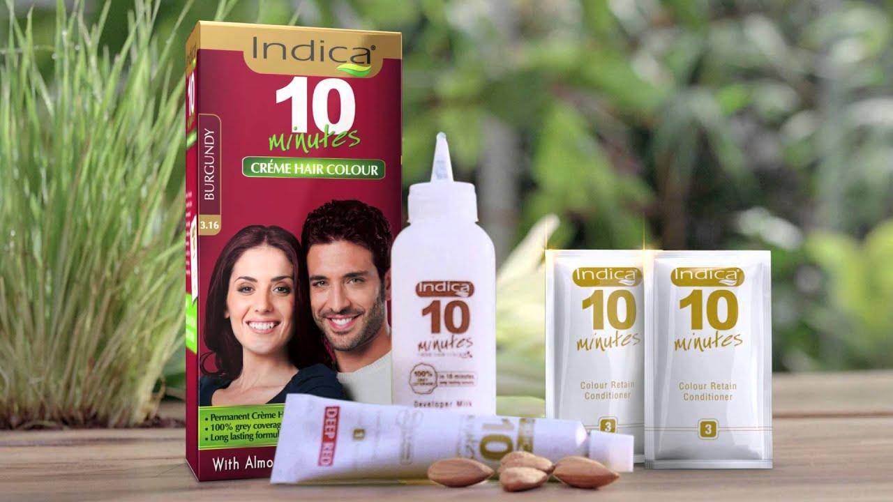 Indica 10 Minutes Creme Colour 25 Sec Hindi Youtube
