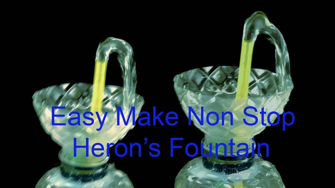 Make Non Stop Heron's Fountain With Plastic BottleWater