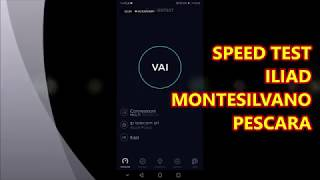 Speed test Iliad Montesilvano (Pescara)
