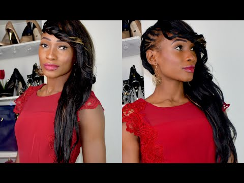 Side Mohawk With Weave Side Cornrows With Weave Youtube