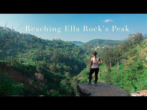 Reaching ELLA ROCK'S peak - Amazing MOUNTAINS and NATURE in SRI LANKA