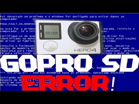 GOPRO SD ERROR '' NO SD OR SD ERR ON CAMERA'S LCD ''
