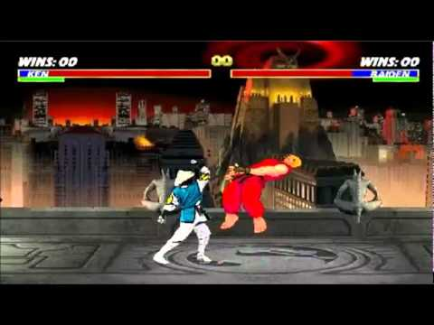 Mortal Kombat vs Street Fighter 1 (Ken vs Raiden) - HQ -