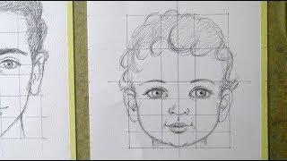 Cara niña dibujo