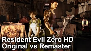 Resident Evil Zero HD Remaster PS4 vs Wii/GameCube Graphics Comparison