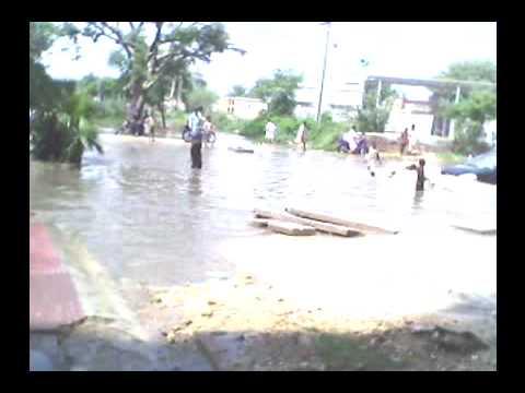 Hyderabad Roads After Heavy Rain Near K.F.C Hyderabad, Sindh