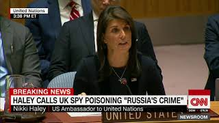 Haley slams Russia over spy poisoning in Britain