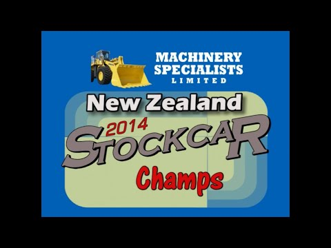 Coverage from Night 1 of the 2014 New Zealand Stockcar Champs held at the Robertson Holden International Speedway in Palmerston North. - dirt track racing video image