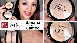 Ben Nye Luxury Powders | Banana vs. Cameo for Light Skin