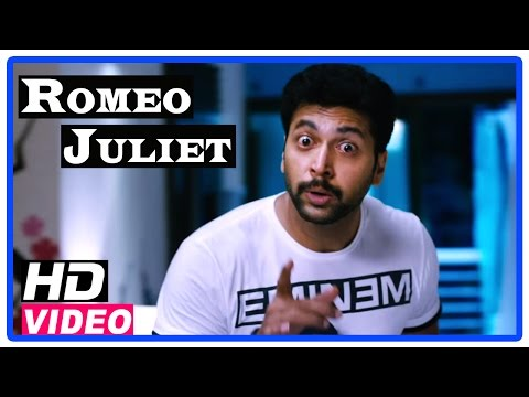 Romeo Juliet Tamil Movie | Scenes | Dunken Jayam Ravi comes to Hansika's home at night