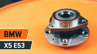 Cómo cambiar Juego de cojinete de rueda BMW X5 (E53) - vídeo gratis en línea