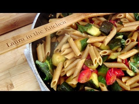 Penne with Sauteed Zuchini and Cherry Tomatoes - Recipe by Laura Vitale - Episode 124
