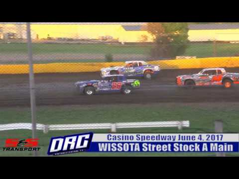 Casino Speedway 6/4/17 WISSOTA Street Stock Feature Final Laps