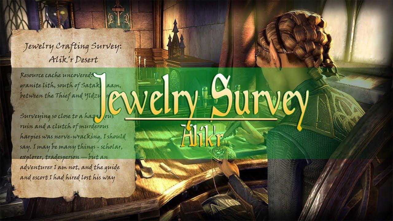 Elder Scrolls Online | Jewelry Survey | Alik'r