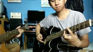 Tutorial melodi gitar (intro) bass dan chord jatuh cinta lagi sama kamu - Threesixty