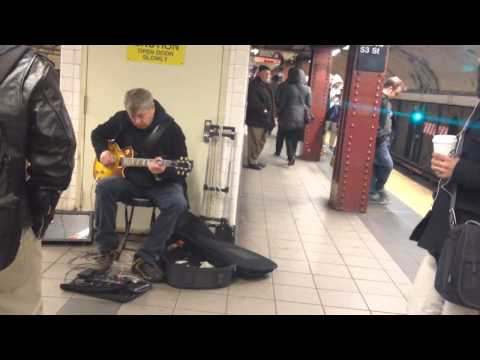 Busking at 53rd st. #NYC 🎸