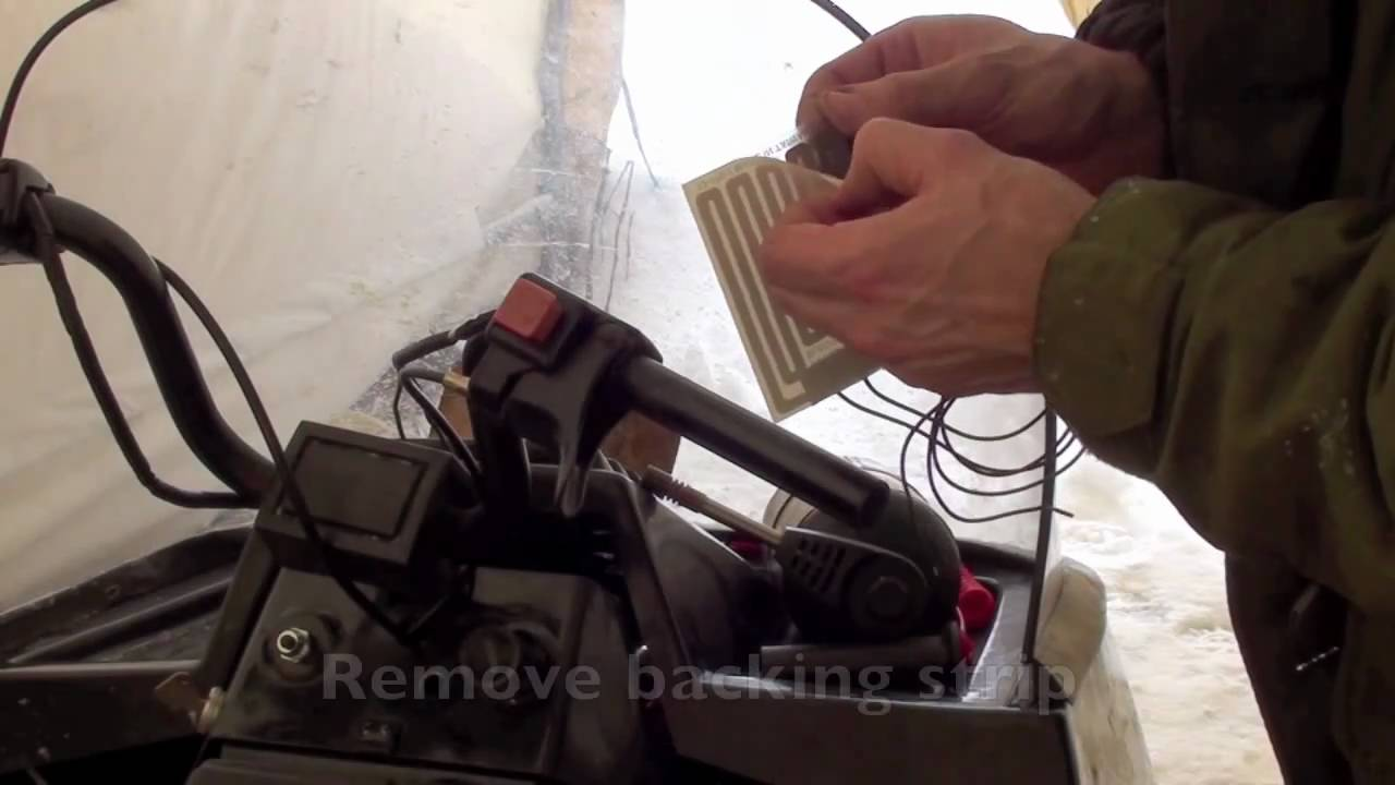 Handle bar warmer install YouTube