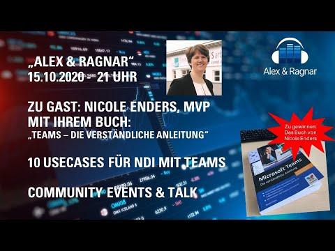 """Alex & Ragnar"" - 15.10.20-LiveStream: Microsoft Teams Buch von Nicole Enders + Top 10 NDI Use Cases"