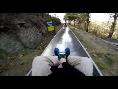 Great Wall of China Crazy Toboggan Run - POV Mutianyu Sled Ride - GoPro Hero 4