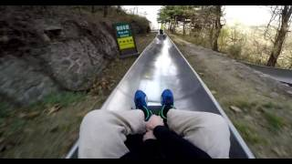 Toboggan - Great Wall of China Crazy Toboggan Run - POV Mutianyu Sled Ride - GoPro Hero 4