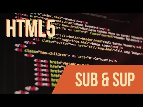 Learn HTML With Keith: Sub & Sup