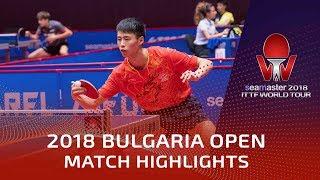 Xu Haidong vs Tomasz Kotowski | 2018 Bulgaria Open Highlights (U21-R32)