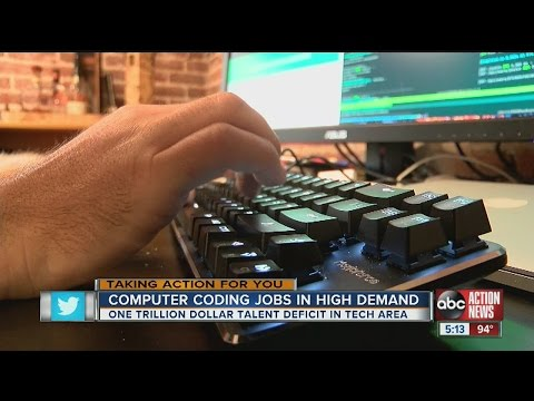 Coding jobs in high demand in Tampa area and beyond