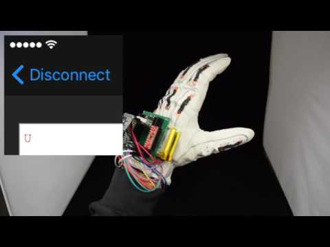 Smart glove translates sign language gestures into text