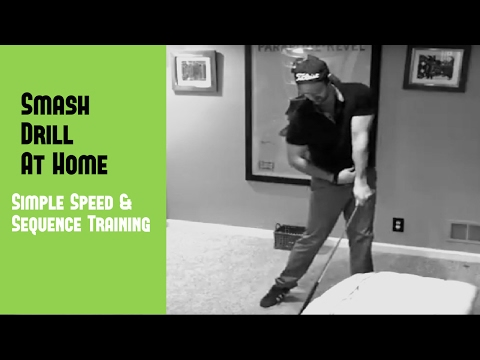 Golf Swing Drills At Home | Increase Swing Speed With The Smash Drill