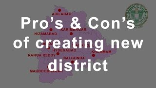Telangana State has 17 New Districts - How and Why