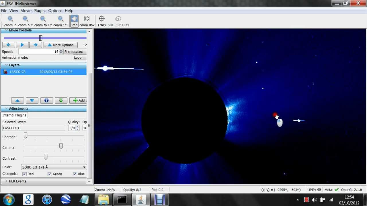 Unknown Planet UFO Near The Sun SEPTEMBER 12th 2012 SOHO