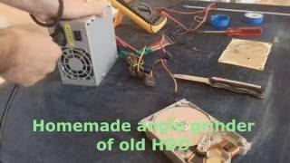 Homemade Angle Grinder of old HDD | Alpha Motoring DIY