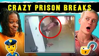 Top 4 Crazy Prison Escapes Caught On Camera Adults React MP3