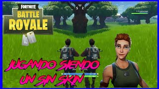 Playing a skinless/ Fortnite Battle Royale