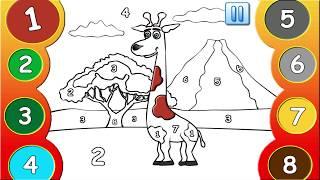 Учим цифры #1 - Развивающая игра для детей. Developmental game for children. Learning Numbers.