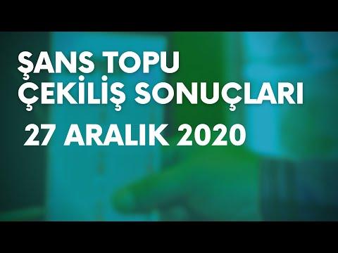 Şans Topu Sonuçları Belli Oldu   27 Aralık 2020