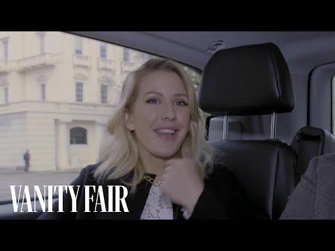 Ellie Goulding Rides with Derek Blasberg to a Burberry Show