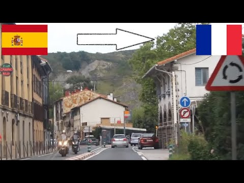 Spain - France / Crossing The Border By Car