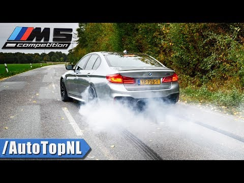 BMW M5 F90 Competition | EXHAUST Sound BURNOUT DRIFTS & TOP SPEED By AutoTopNL
