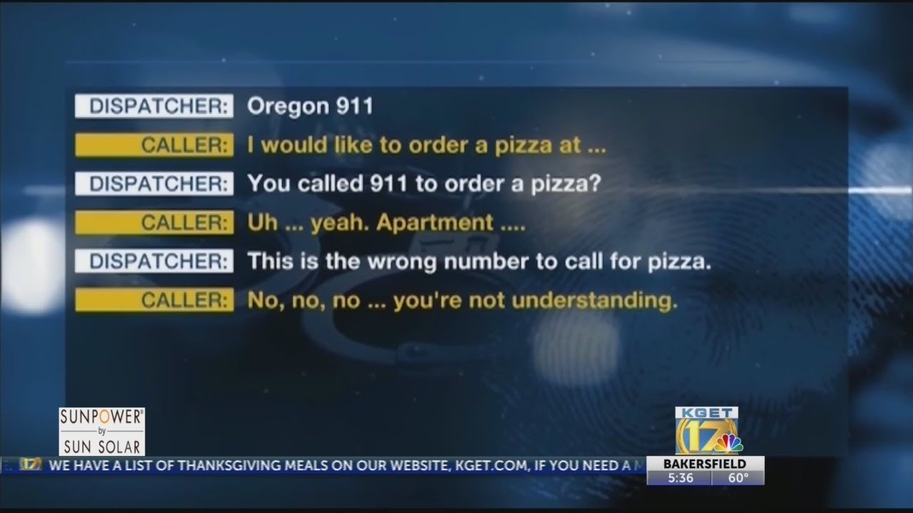 Download Woman disguises 911 call by ordering pizza