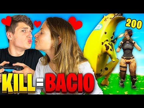1 KILL = 1 BACIO Con La MIA RAGAZZA - FORTNITE CHALLENGE!!😘