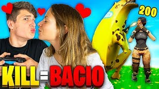 1 KILL = 1 BACIO con la MIA RAGAZZA - FORTNITE CHALLENGE!!😘