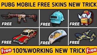 PUBG MOBILE ! HOW TO GET FREE SKINS IN PUBG MOBILE