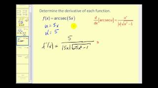 The Derivatives of Inverse Trigonometric Functions